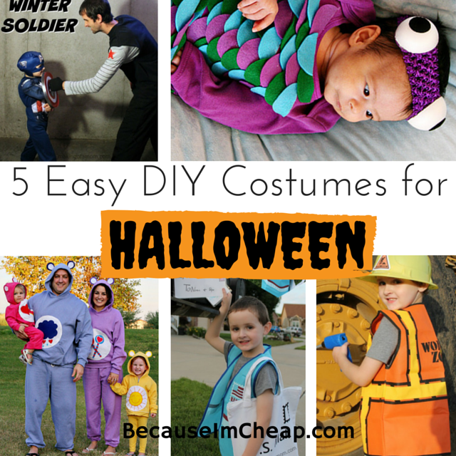 5 Easy DIY Costumes For Halloween | BecauseImCheap.com