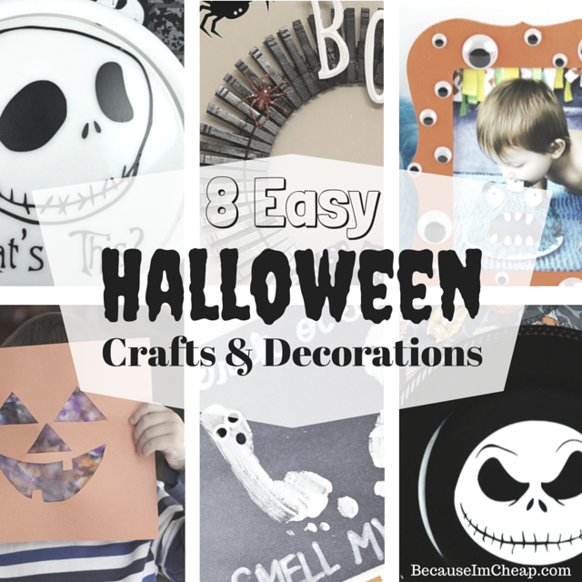 8 Easy Halloween Crafts And Decorations | BecauseImCheap.com