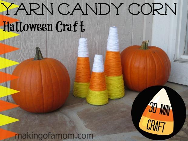 Halloween Craft - Yarn Candy Corn | BecauseImCheap.com