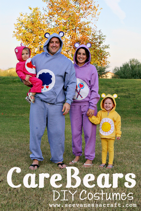 No Sew Care Bear Halloween Costume | BeacuseImCheap.com