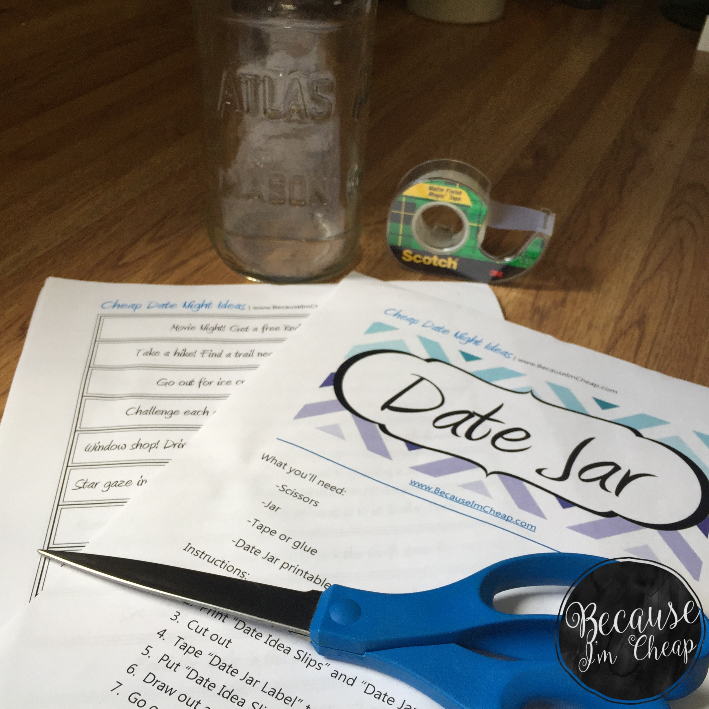 picture regarding Date Night Jar Printable identify Day Jar Printable ~ Frugal Resourceful Day Programs
