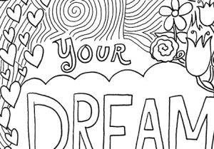 Free adult coloring page printable