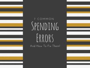 common spending errors