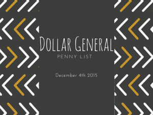 Dollar General Penny Items December