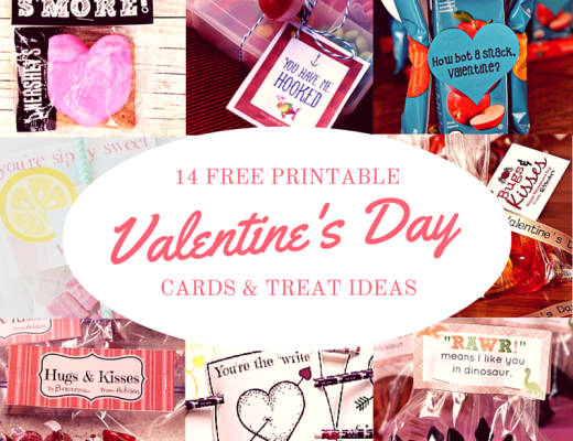 14 free printable Valentine's Day cards.