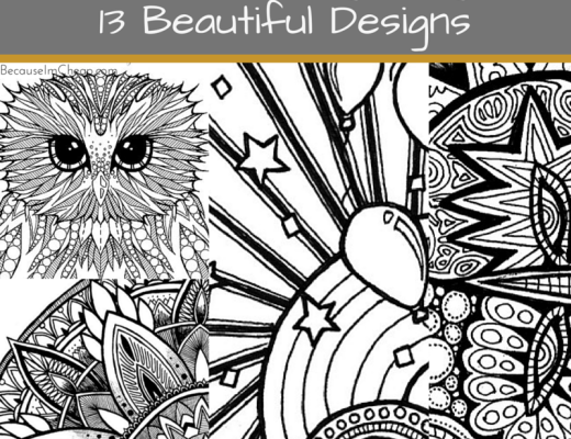 Free adult coloring pages ~ 12 beautiful downloads
