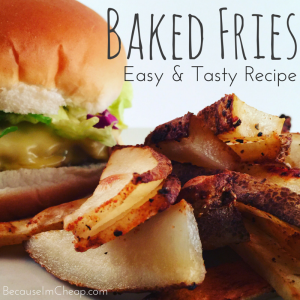 Easy & Tasty Baked Fries Recipe