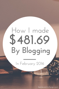 How I made $481.69 in one month of blogging
