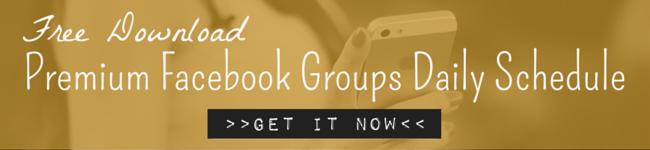 Premium Facebook Groups Daily Schedule